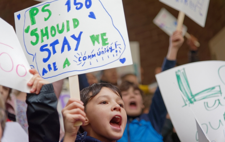 Ps 150 Students And Elected Officials Rally To Keep Ps 150