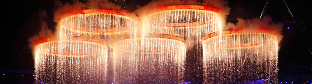 Olympic Rings of fire at the London 2012 Opening Ceremony — Tribus Creative, brand communications for small business