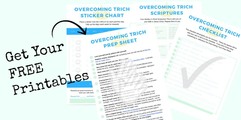 Overcoming Trichotillomania Checklist  Sticker Chart Printables - sticker chart