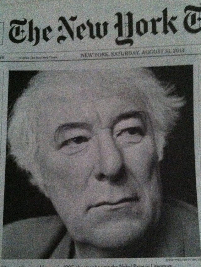 Seamus Heaney NYTs photo