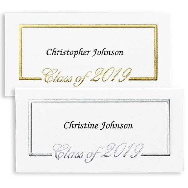Foil Border Name Cards