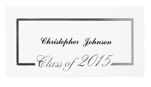 foil border name cards graduation