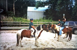 Minnow at the Chincoteague Pony Centre 2001 with Chris Nelson