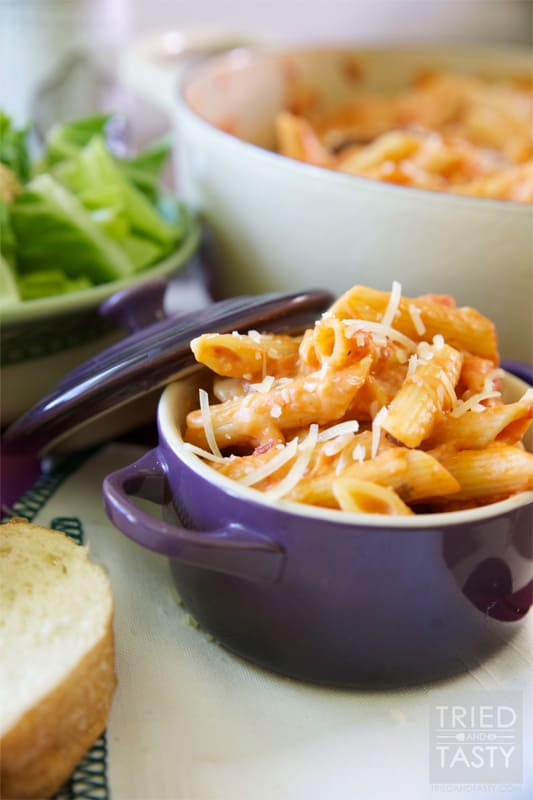 5-Ingredient Two-Timin Pasta Bake // Tried and Tasty