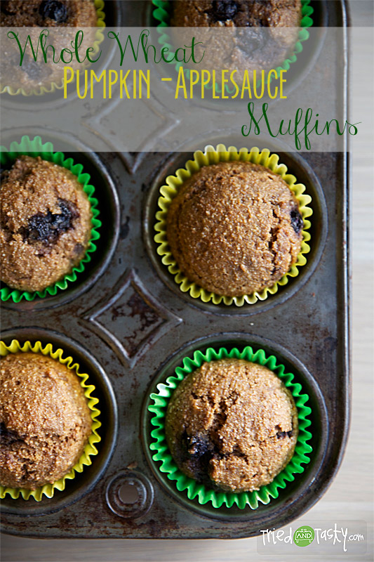 Whole Wheat Pumpkin-Applesauce Muffins - Tried and Tasty