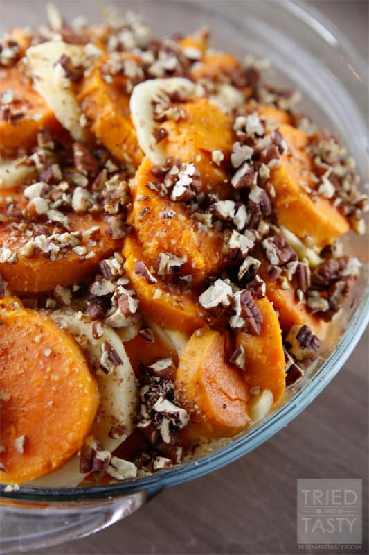 ... sweet potato casserole with bourbon honey glazed apple sweet potato