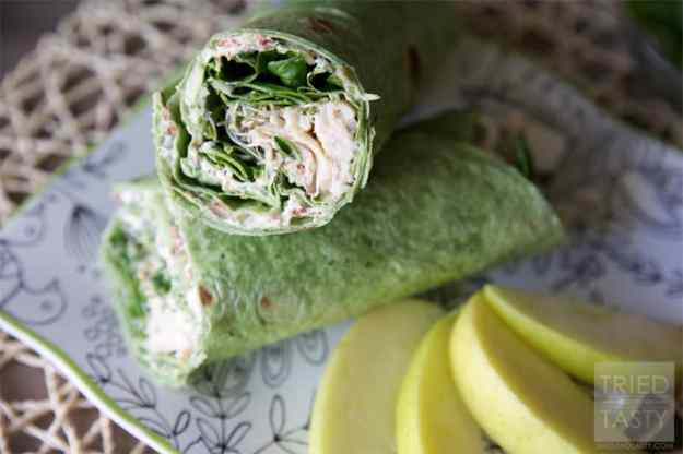 how to make spinach wraps