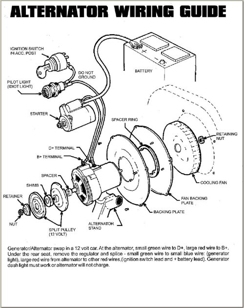 Vw Bug Generator Light Wiring Wiring Diagram