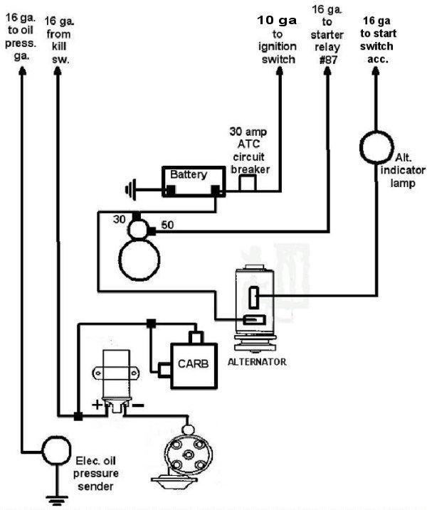 dune buggy basic wiring diagram