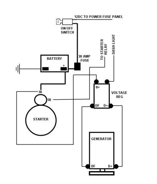 volkswagen voltage regulator wiring diagram