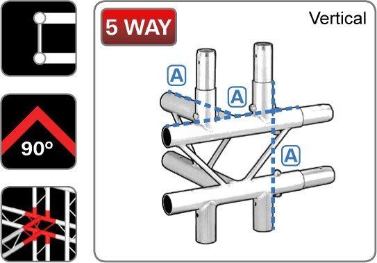 212 Ladder 5 Way Junction 39center39 Vertical Trilite