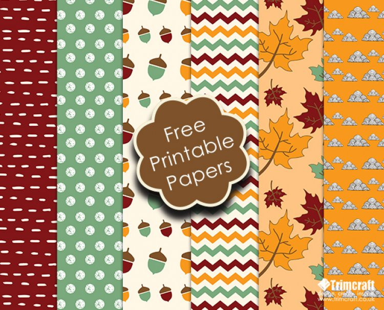 Free Trimcraft Printable Papers and The Craft Blog