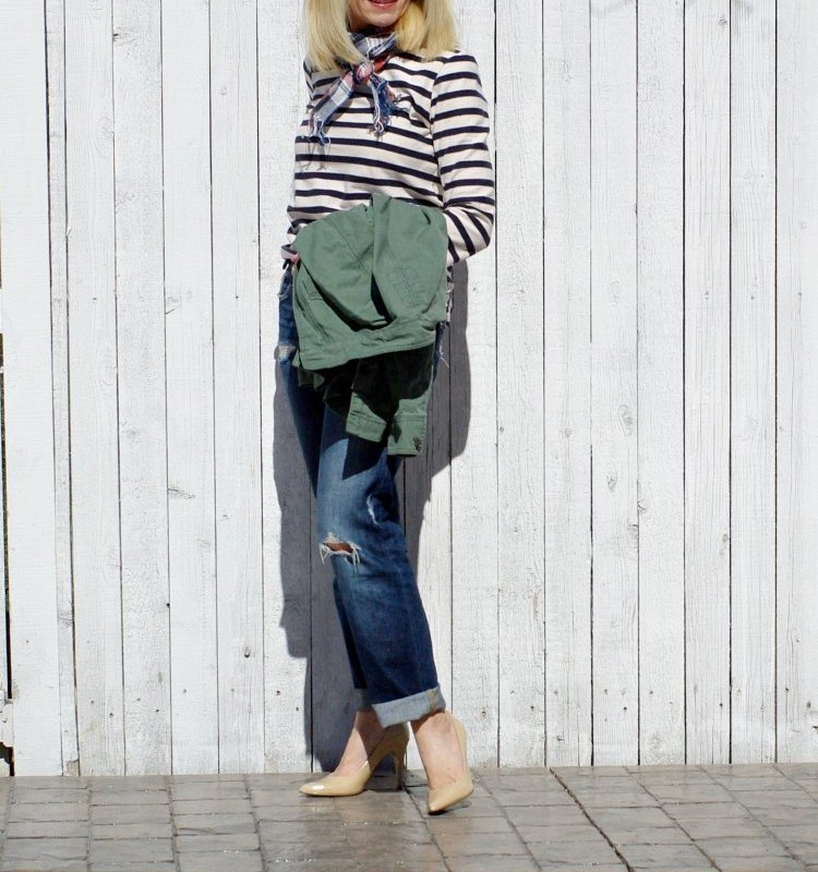 READY FOR SOME WEEKEND WEAR-BOYFRIEND JEANS AND STRIPES