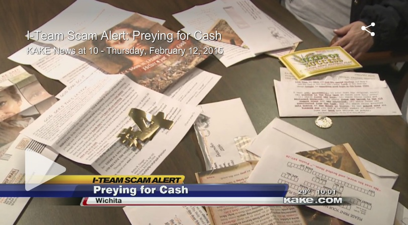 Wichita KAKE TV Uncovers Religious Mail Scam