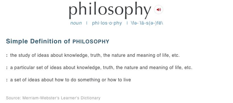 philosophy-merriam-webster