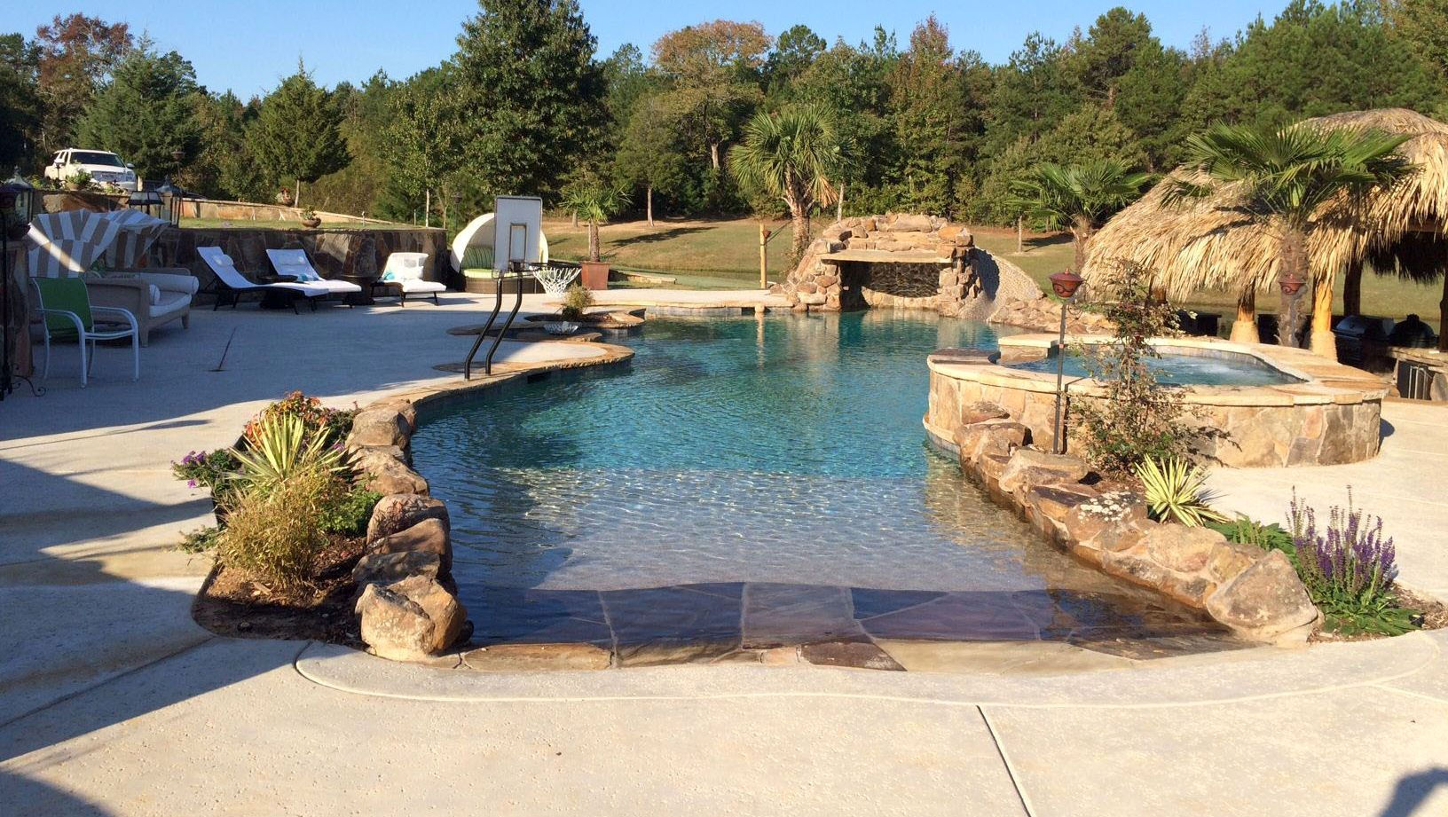 Jacuzzi Pool In Ground Custom Pool Builder Tyler Texas Gunite Pool Construction Above