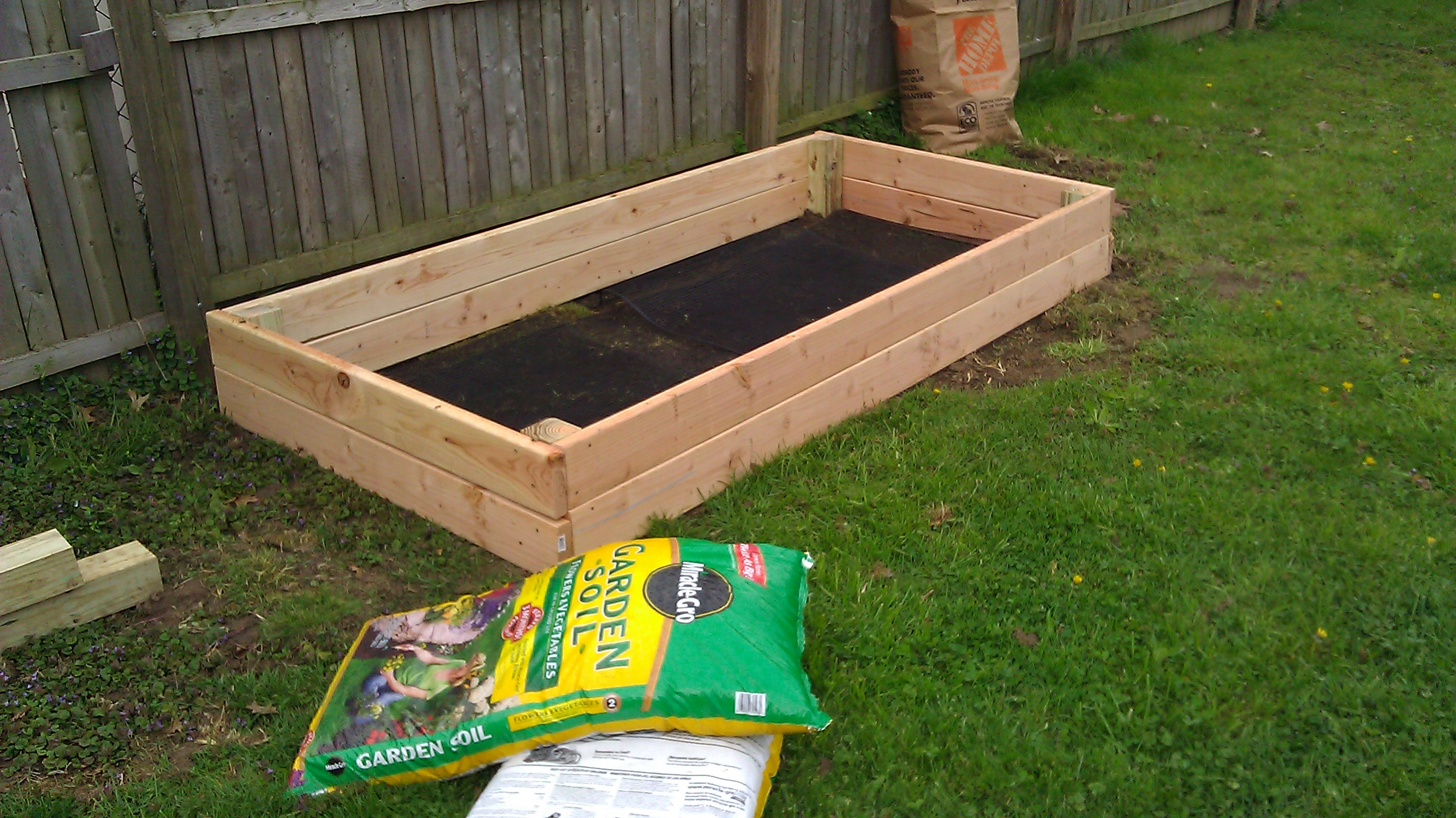Instructions For Making Raised Garden Beds Raised Garden Bed Part 2 Success Mandy 39s Marvelous Meals