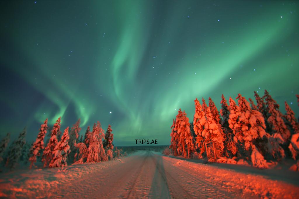 الشفق القطبي الأخضر
