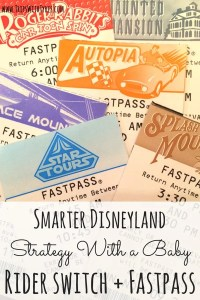 A Smarter Strategy for Disneyland with a Baby: Maximizing Rider Switch and Fastpass: Did you know that rider switch and Fastpass can be combined at Disneyland in ways that allow you to double your thrill rides? How my family did it all, even with a baby in tow.