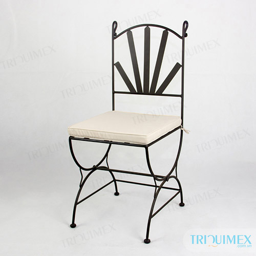 Iron Dining Chair Added Cushion
