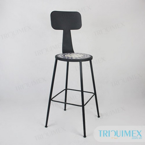 GH-138 Aesthetic iron bar with mosaic seat
