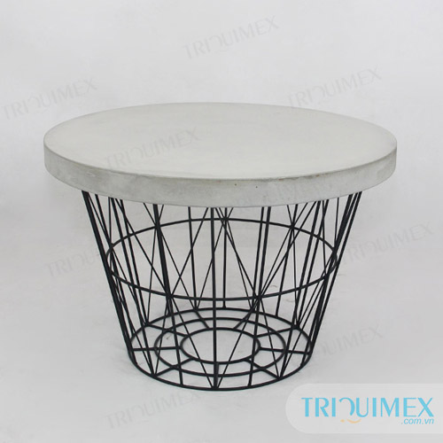 Cement round table top at Triquimex