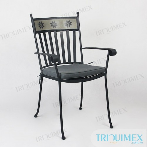 GH-141 modern iron café chair