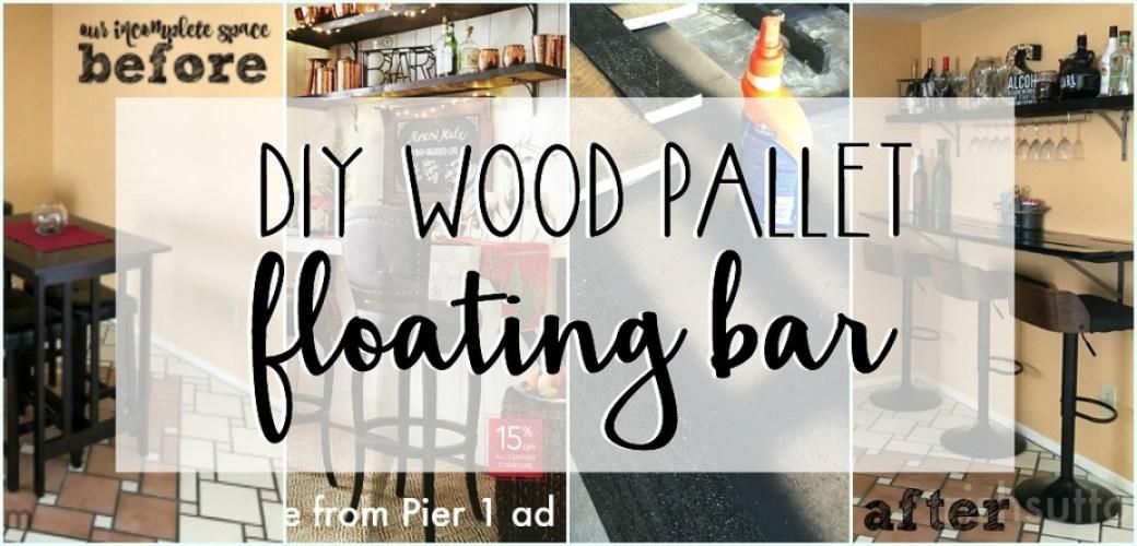 DIY Wood Pallet Floating Bar