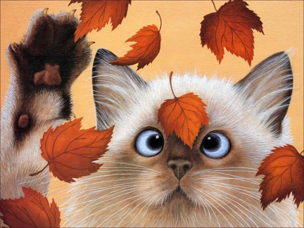 Fall Leaves Fox Wallpaper Fond D 233 Cran D Automne Pour Tout Les Gouts