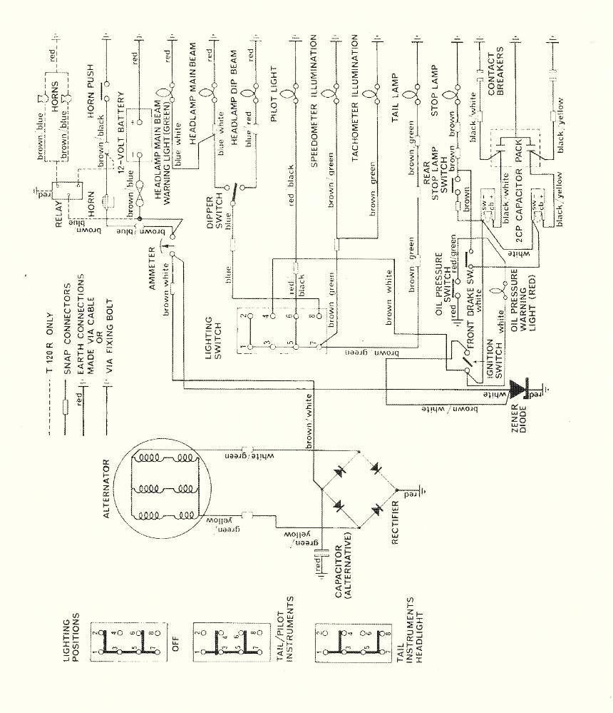 1971 triumph 650 wiring diagram