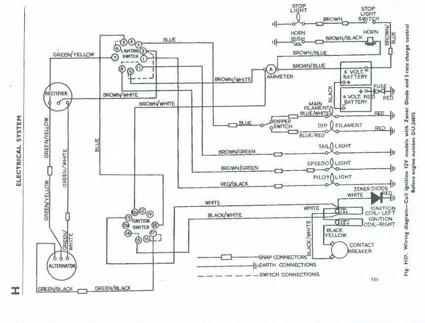 1969 triumph bonneville wiring diagram