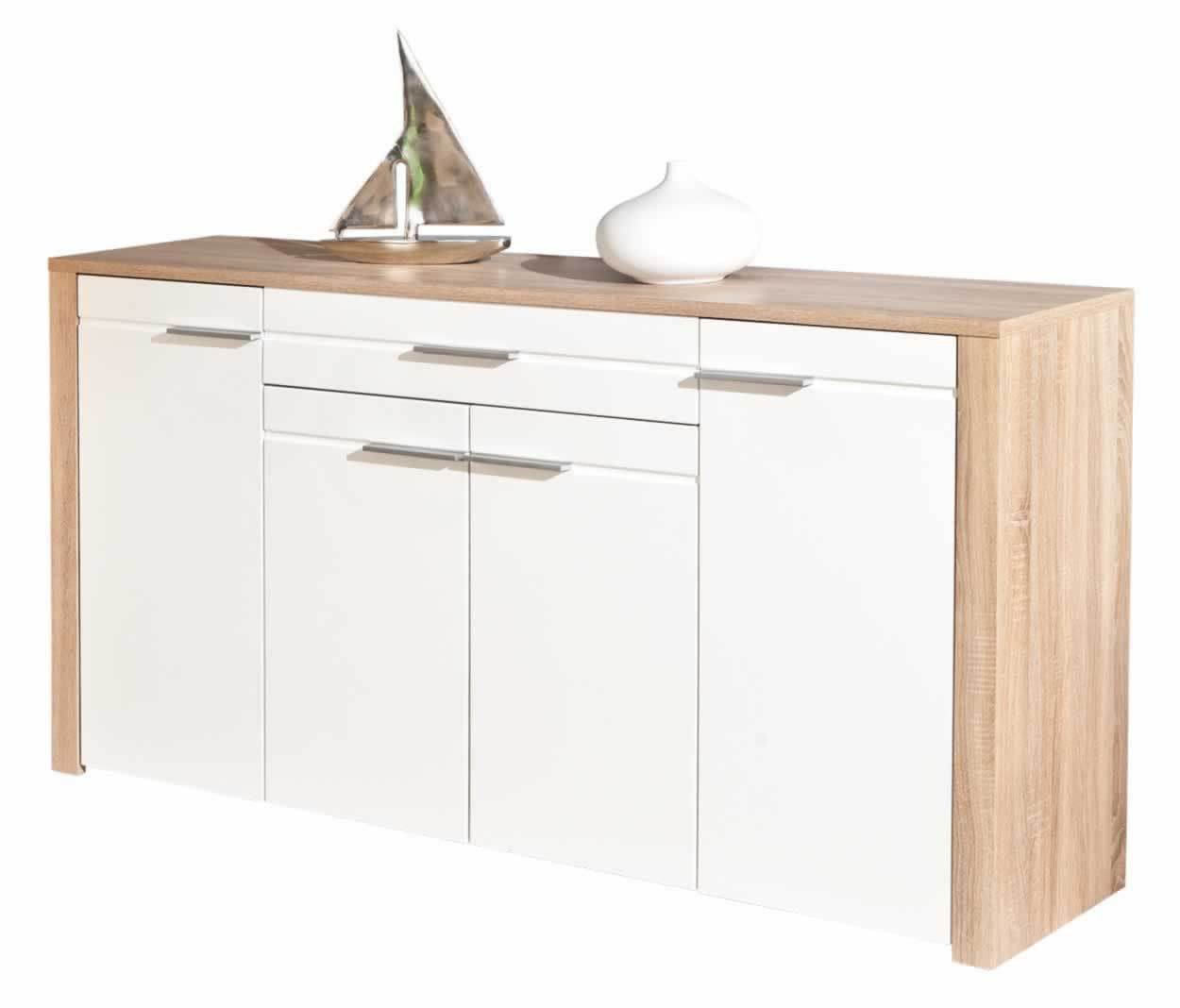 Buffets Contemporains Buffets Contemporains Buffet Bahut Absolu Blanc Trocity