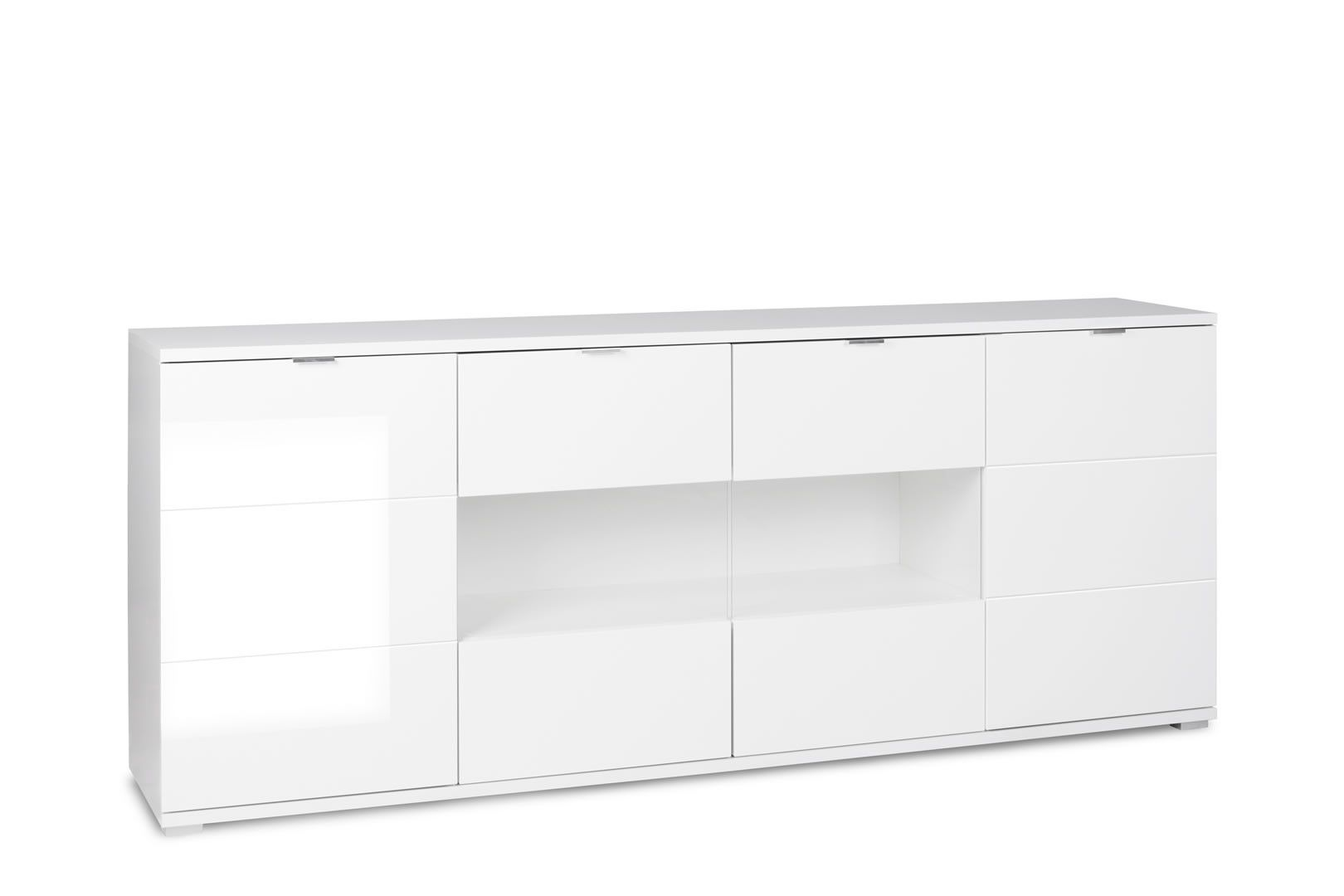 Buffets Contemporains Buffets Contemporains Enfilade 4 Portes Gandalf Blanc