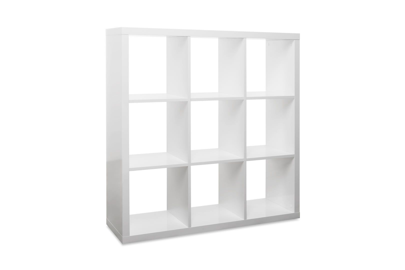 étagères Cube Murales Made In Europe Etagère Murale Cube 9 Cases Blanc Brillant Lana