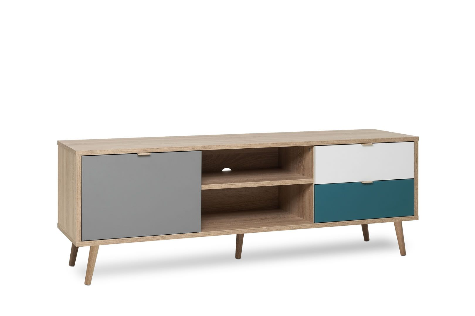 Sejour Scandinave Meuble Made In Europe Meuble Tv 1 Porte 2 Tiroirs Style Scandinave Anave