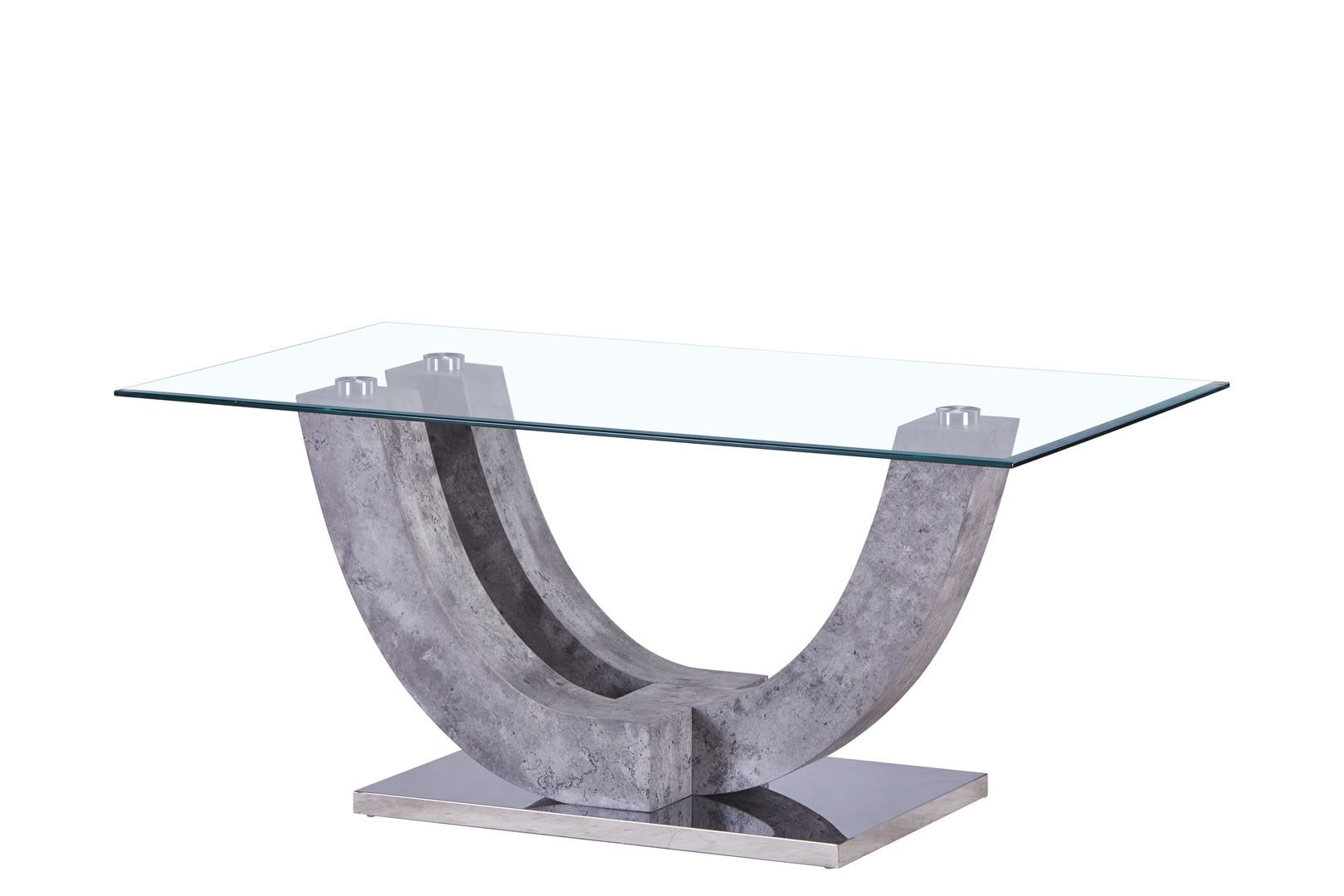 Table Basse En Beton Table Basse Design En Verre Forme U Gris Béton Tuti