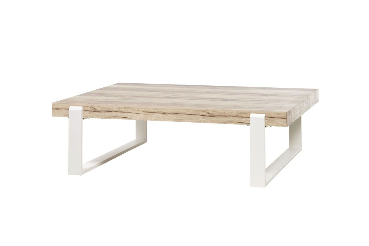 Pied De Table Basse Scandinave Made In Belgium Table Basse Style Scandinave Bois Naturel Et Pieds Métal Blanc Vorane