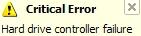 Hard drive controller failure