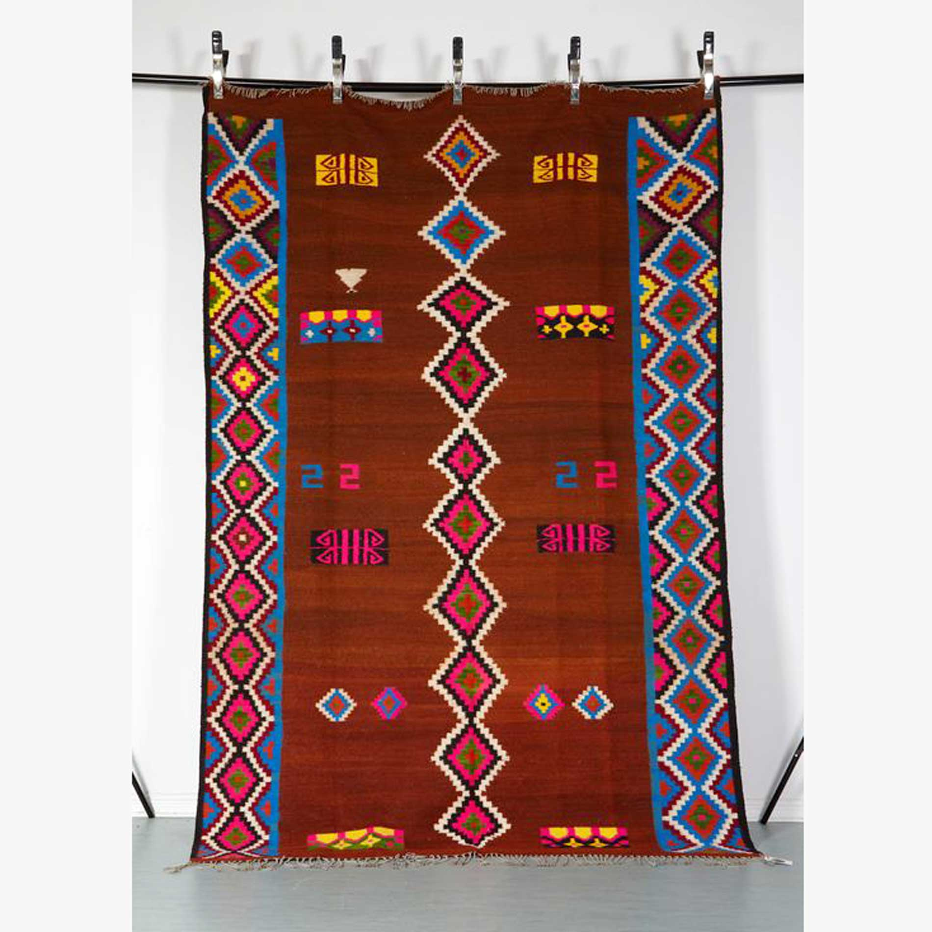 Kelim Berlin Handmade Colourful Kelim Rug From Southern Tunesia