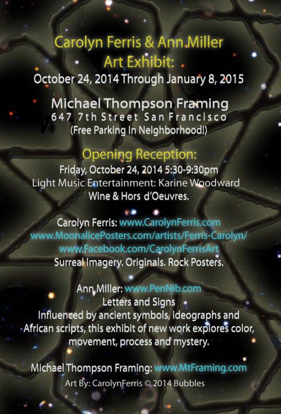 Art Exhibit October 24, 2014 - January 8, 2015