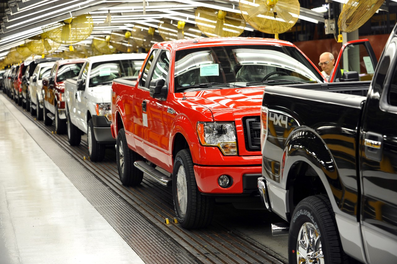 First CNG capable Ford F-150 coming off the assembly line
