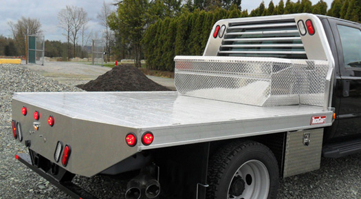 Aluminum Flat Bed on 06 Dodge 3500 4x4 For Sale