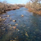 Truckee River in Feb. 2016 from John Champion Park bridge in Reno.