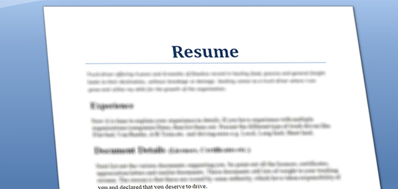 Quick and Simple Truck Driver Resume preparation steps - Truck servicez