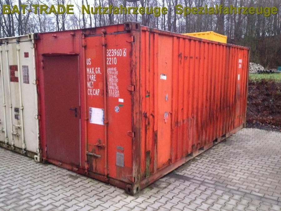 Seecontainer Diversen Seecontainer Container 20 Ft - Fuss- 6m Lagerraum | Dry Standard Shipping Container - Trucksnl