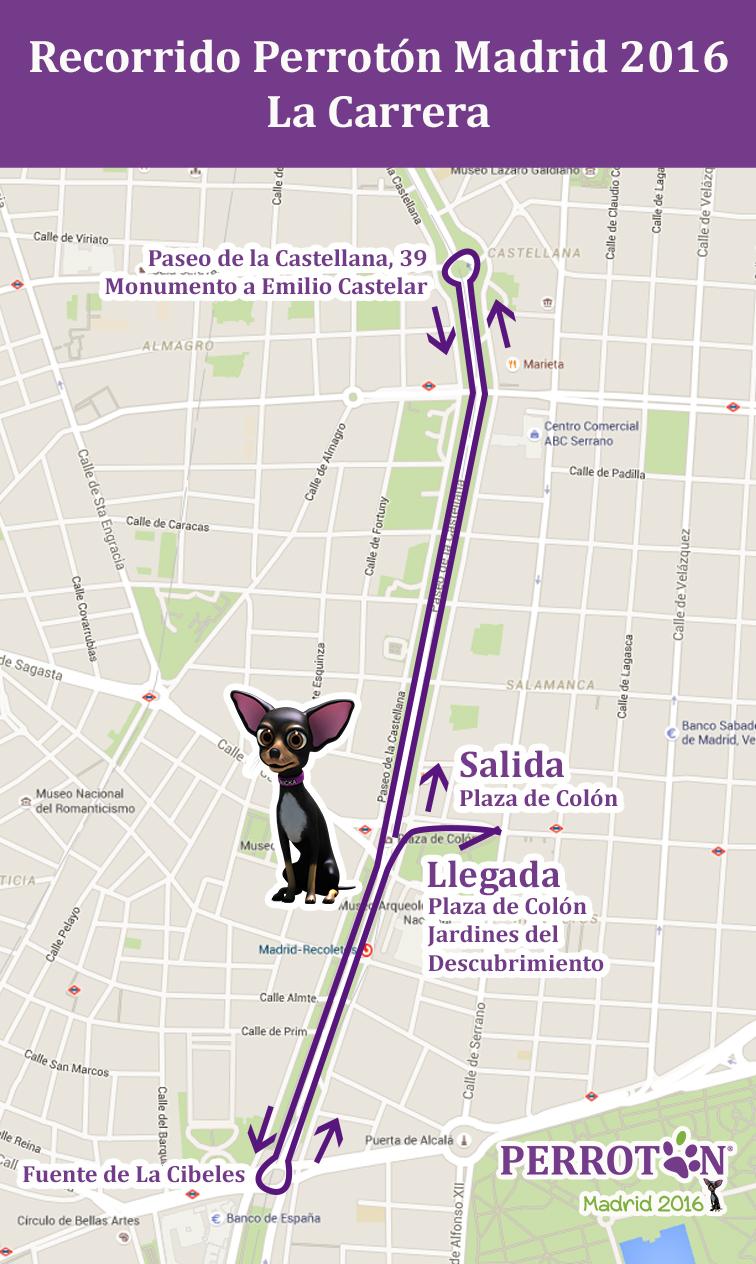 RECORRIDO PERROTON MADRID 2016 LA CARRERA _ 4 KM ( opción 1)