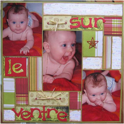 Tableau Moderne Le Color Blocking : Technique De Scrapbooking - Trucs Et Deco