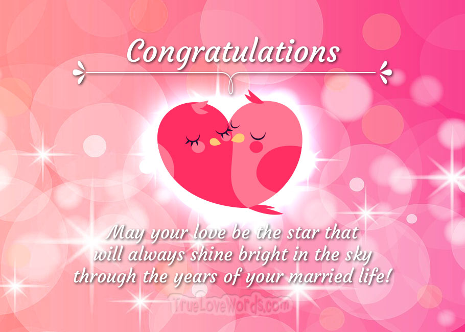 Wedding Wishes and Happy Married Life Messages » True Love Words