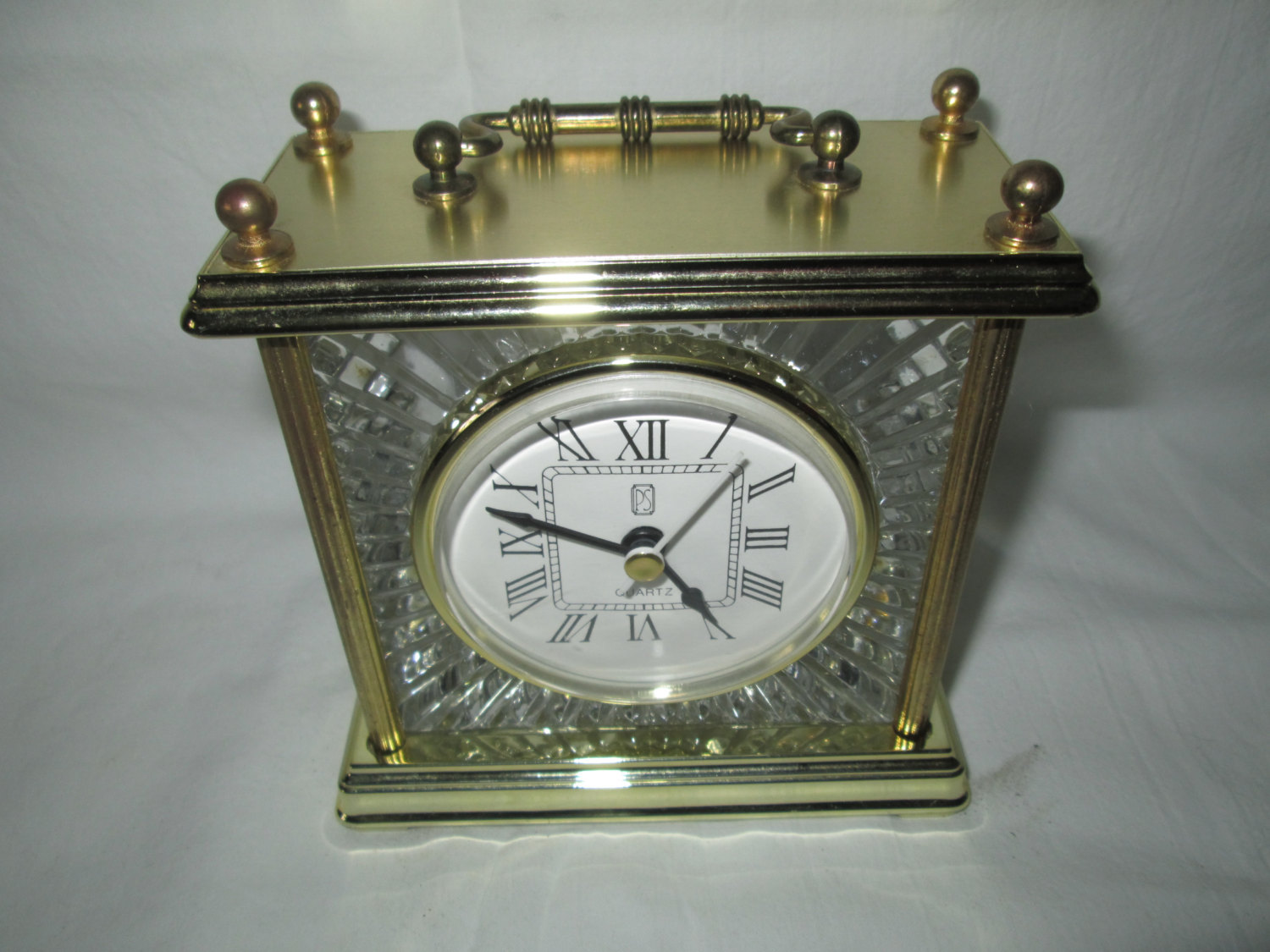 Bedside Table Clocks Beautiful Brass And Crystal Working Carriage Clock Quartz