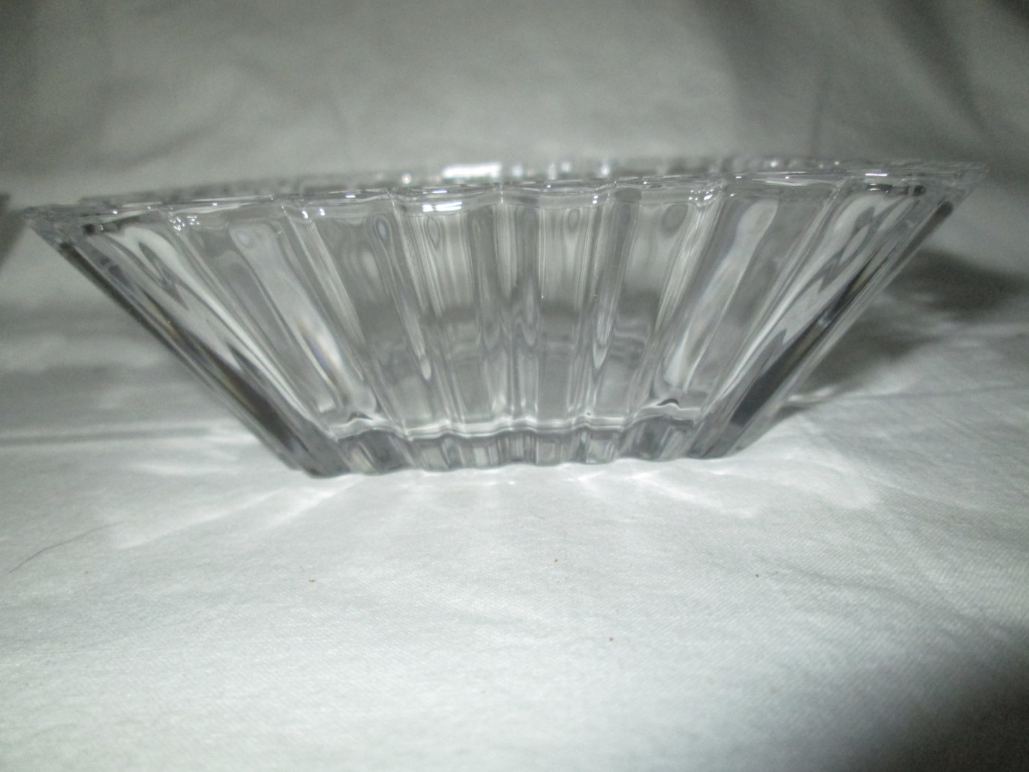 Beautiful Fruit Bowls Set Of 4 Beautiful Fruit Or Snack Bowls Square Crystal